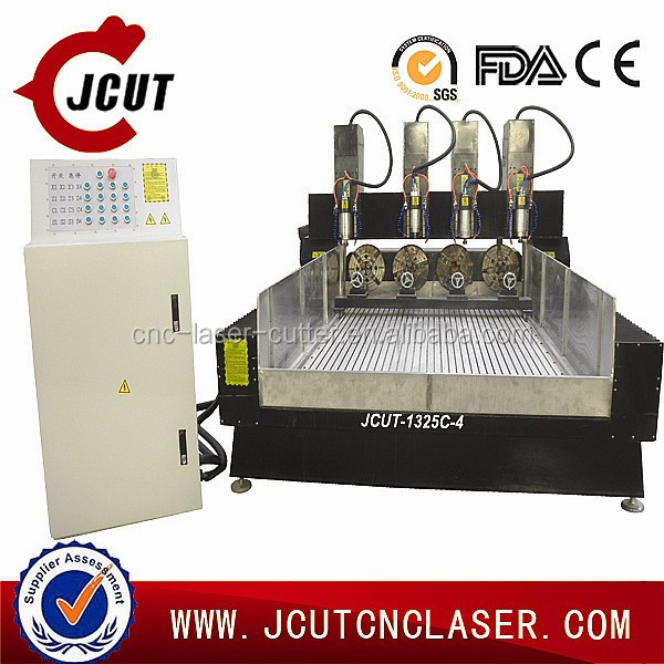 China high quality low price JCUT-1325C-4 CNC multi-head stone engraving/cutting machine for sale