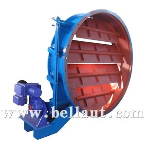 Motorized low pressure damper butterfly valve with actuator