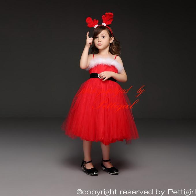 nuevo tulle nias vestido de navidad rojo formal vestido de cors con cinturn negro delicado gd