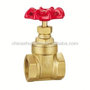 cheaper price brass brass gate valve red iron wheel non rising stem 3 inch 30 years valve manufacturer