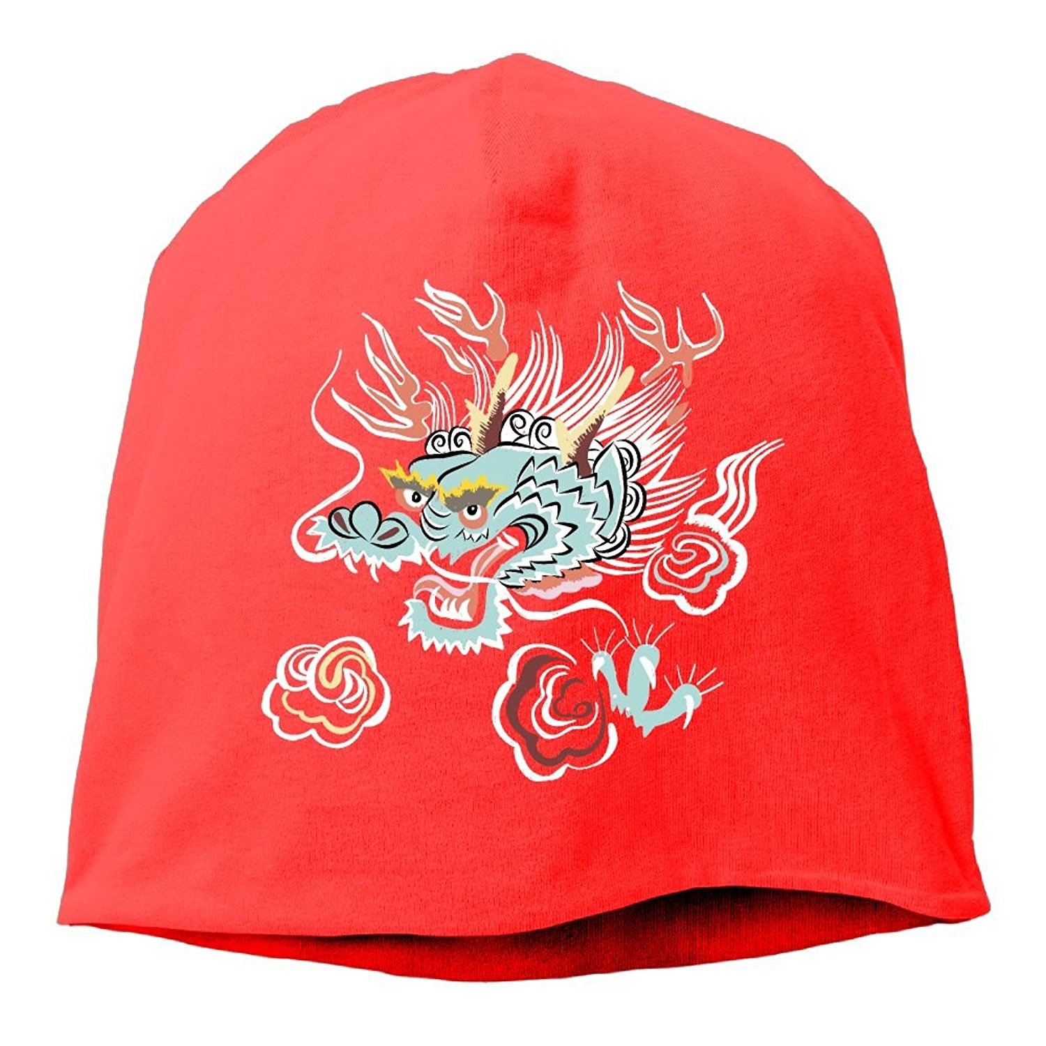 53b745a1e1803 Get Quotations · YUTtr Musician Dragon Unisex Knitting Hats Soft Stretch  Beanie Skull Hedging Caps