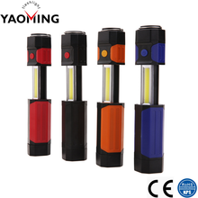 YM-2836 Popular Scalable Inspection Flashlight Powerful Torchlight Super Bright COB LED Potable Work Light