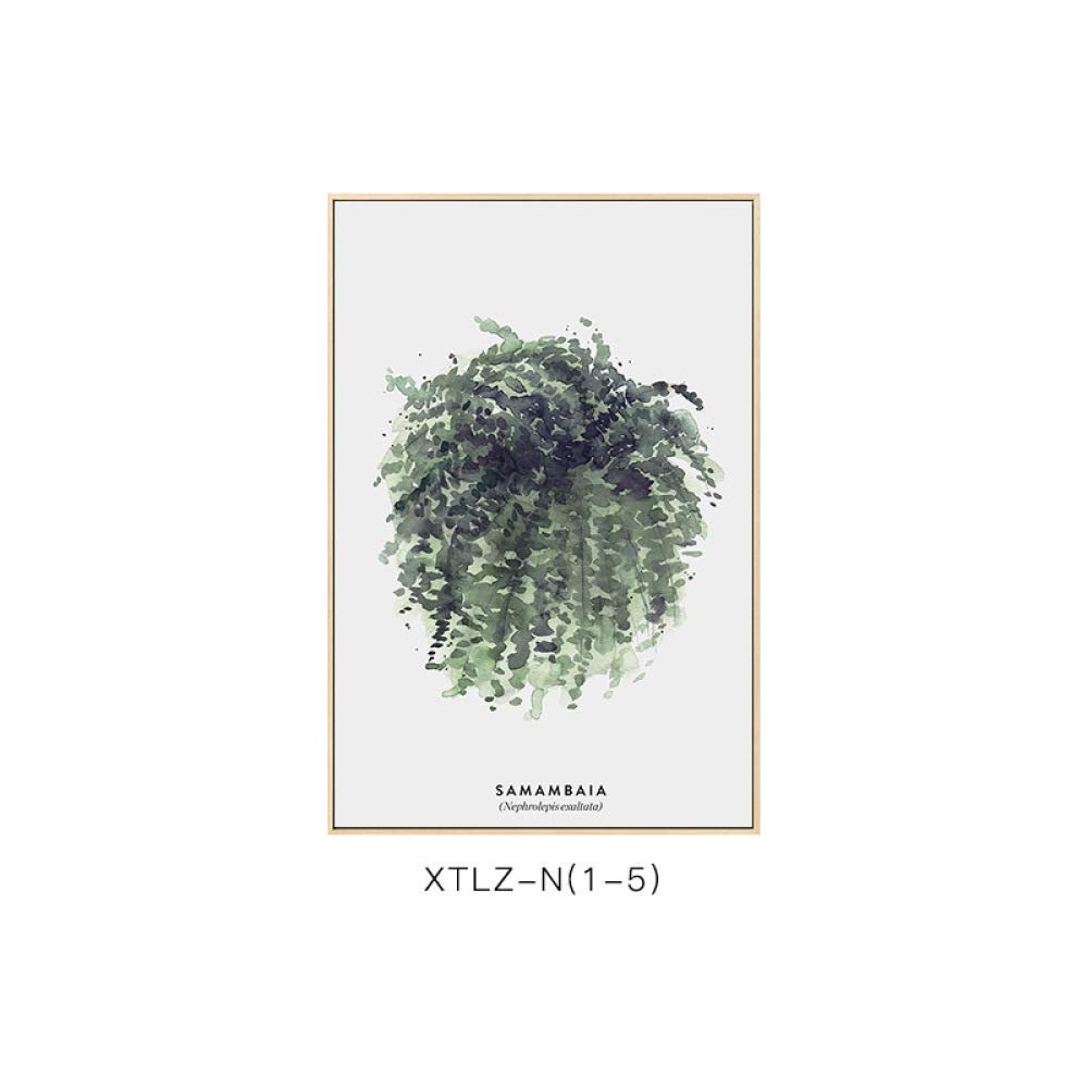 PLLP Simple framed greenery, simple modern plant pattern, elegant style, elegant living room bedroom decoration painting