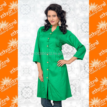 Ethnic Central's Ladies Pakistani Style Long Cotton Kurta Neck Designs For  Girl And Women 2014 At Wholesale Price - Buy Cotton Kurta Neck Designs With