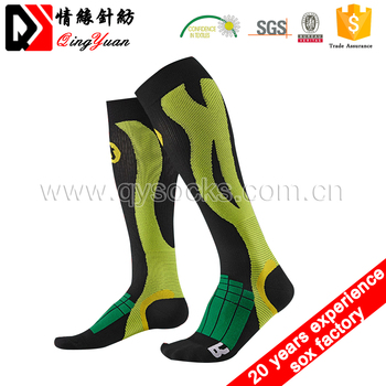 Sock Manufacture Wholesale Custom Soccer Socks Cycling Socks Knee High Running Sport Compression Socks Coolmax