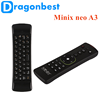 2017 most popular Minix neo A3 Wireless air mouse remote control tv wholesale android smart set top box Keyboard with Voice