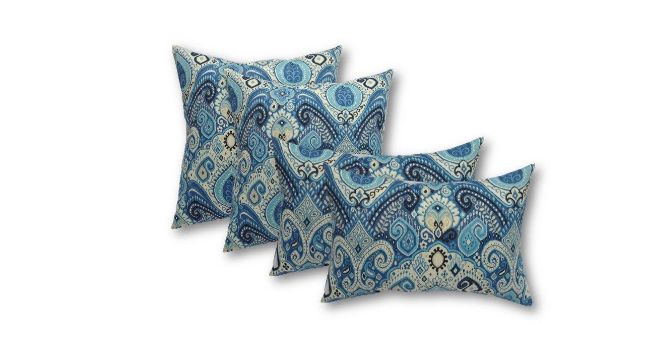 Get Quotations · Set Of 4 Indoor/Outdoor Pillows   Square Throw Pillows U0026 2  Rectangle / Lumbar
