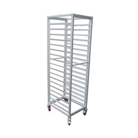 Custom durable Stainless Steel Single Line GN Pan Trolley/GN Pan Cart