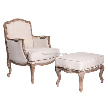 Antique Reproduction Armchairs French Furniture Leisure Chair With