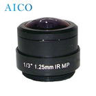 1.25mm 1/3 inch format 5M 180 degree cctv cs mount fisheye lens 1.25 mm
