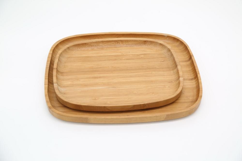 round bamboo wood serving trays