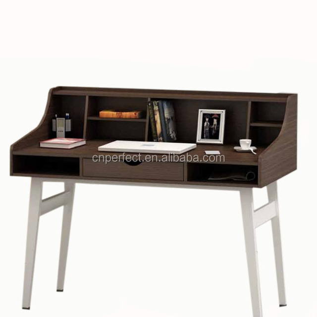 China Manufacturer Supply Used Computer Desk Office Table Wooden With Steel Legs For One Person