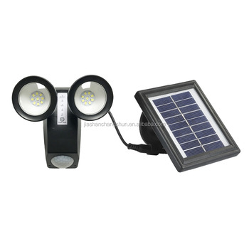 Good Quality Low Cost Twin Solar Security Light with 3 working modes 500Lumens