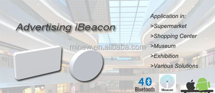 Only 3.3mm height and low cost BLE iBeacon sticker with Eddystone