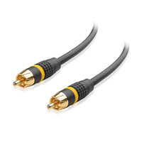 Top quality OEM wholesale 6 feet male to male gold plated audio video stereo RCA AV shielded subwoofer cable