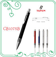 aluminum promotional pen with three rubber ring and special clipCB1078B