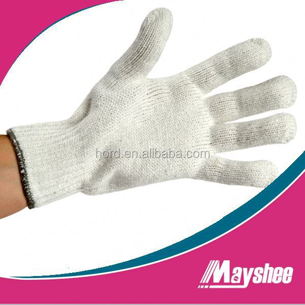 economy natural color knitted glove for working safety