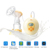Single side electric breast pump with adjustable suction force