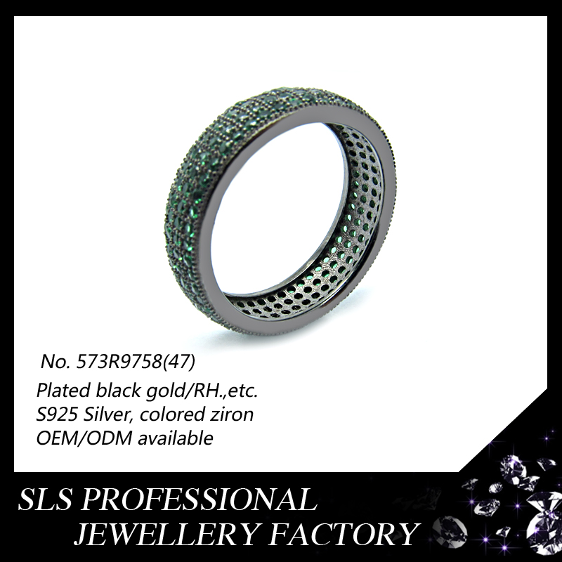 New products for women 2015 moda verde cz te negro oro laminado de diamantes reales anillo de compromiso