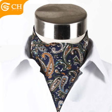 Chunhe Poliestere personalizzato Stampato Paisley Cravatta <span class=keywords><strong>Ascot</strong></span>