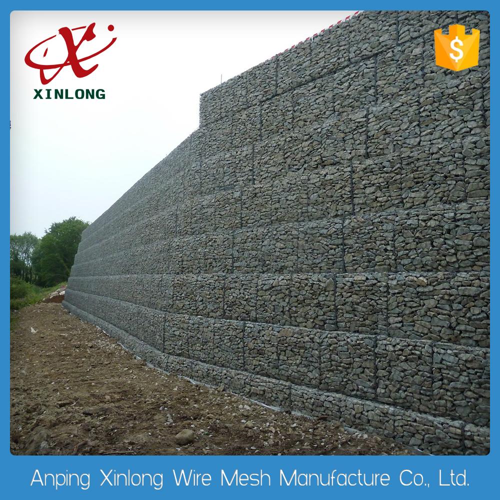 precio competitivo de mm galvanizado caja de gaviones para muro de contencin