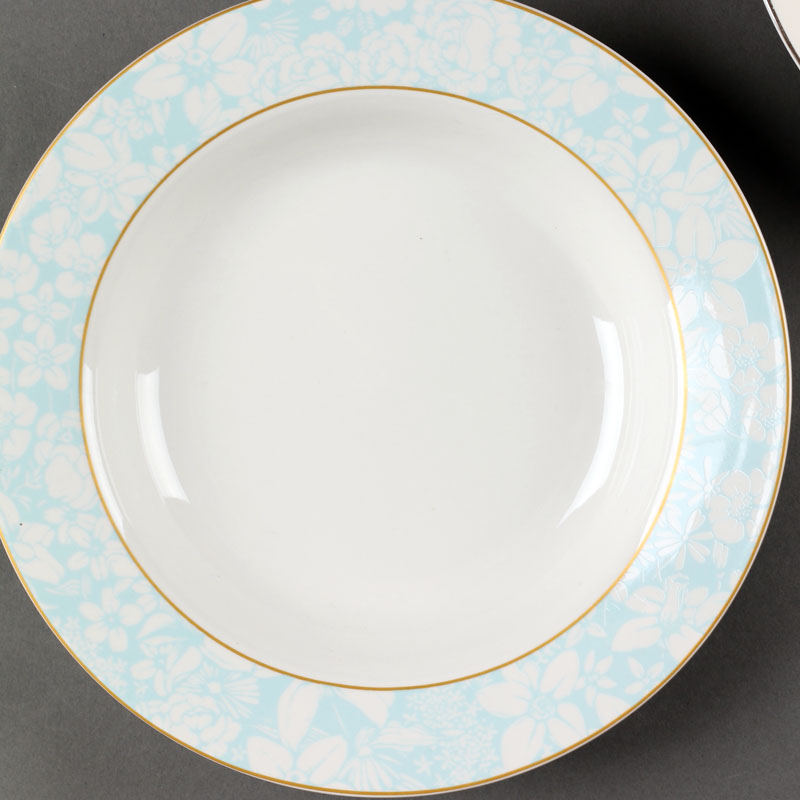 free sample 8 inch Porcelain soup plate for restaurant