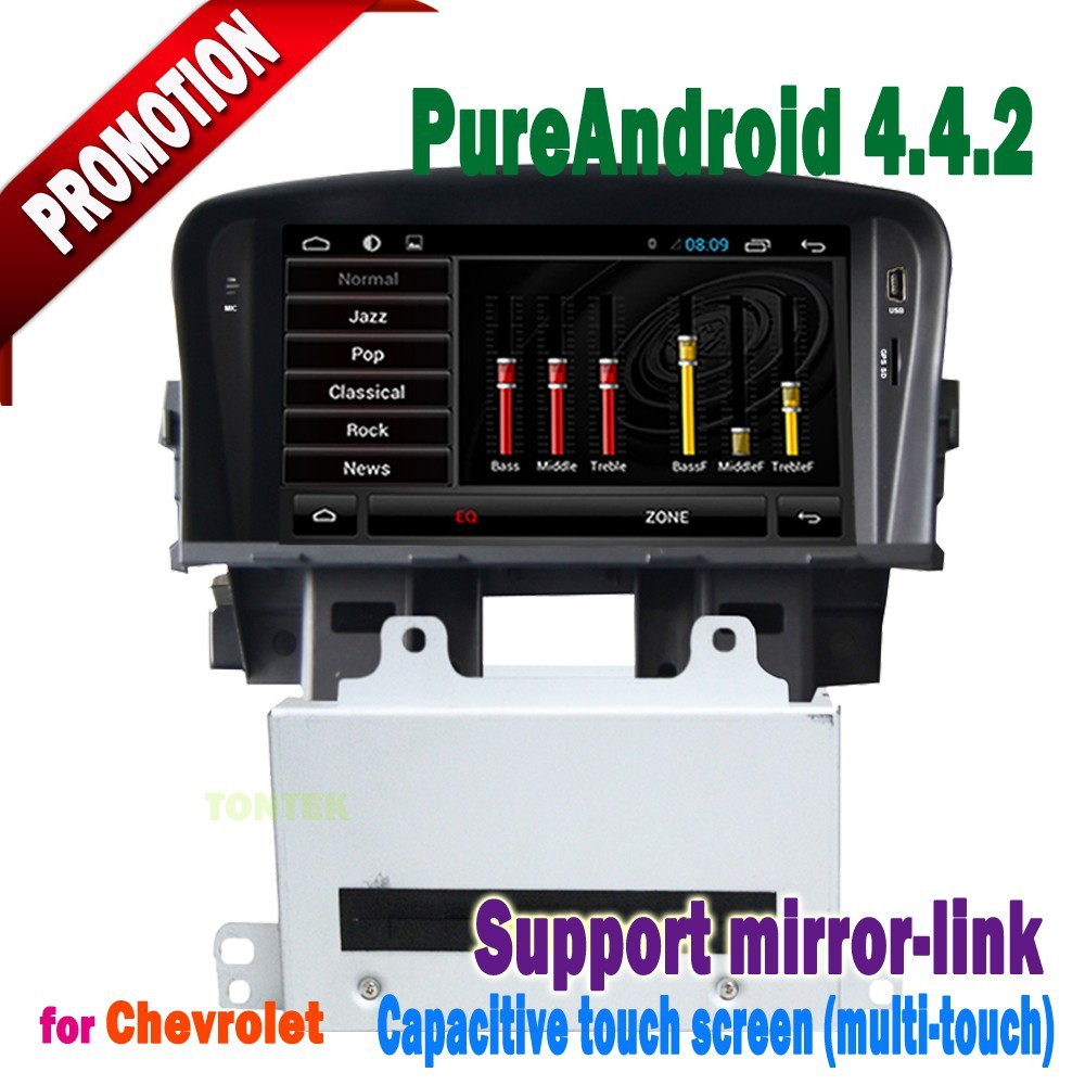 chevrolet cruze 2010 dvd with android 4.4 Capacitive screen 3g/wifi bluetooth mirror-link +hotspot+radio/gps/mp3/ipod