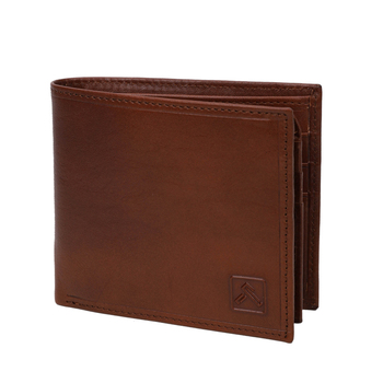 Small Order Quantity Trendy Genuine Vacchetta Leather Zipper Brown Wallet For Men
