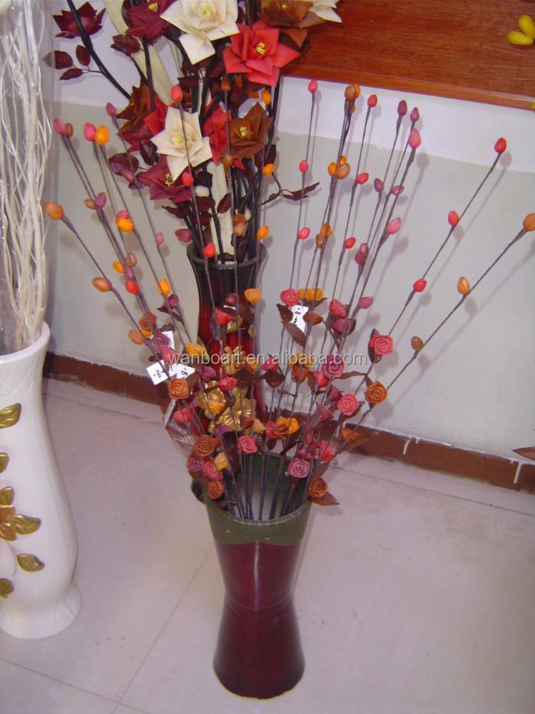 material natural puro hecho a mano flores secas ramosflor artificial con palo de madera