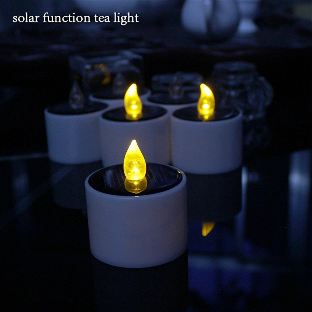Great ... Micandle 6 Pieces Yellow Flicker Solar Power LED Light Candles Flameless  Electronic Solar LED Lamp