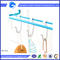 Multifunctional Style and ABS,metal hook,nylon,Plastic Material Flocked S Shaped Hanger Hook