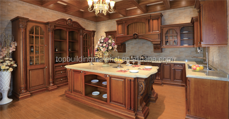 Good quality antique solid oak wood modular kitchen cupboard
