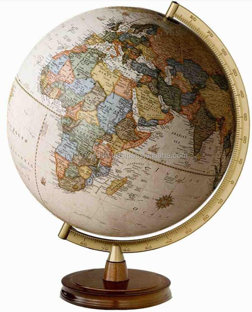 Globe with metal standtable world globeexpensive coloured world globe with metal standtable world globeexpensive coloured world globeitem number sai 2257 buy decorative desktop world globewooden world globeunique gumiabroncs Image collections