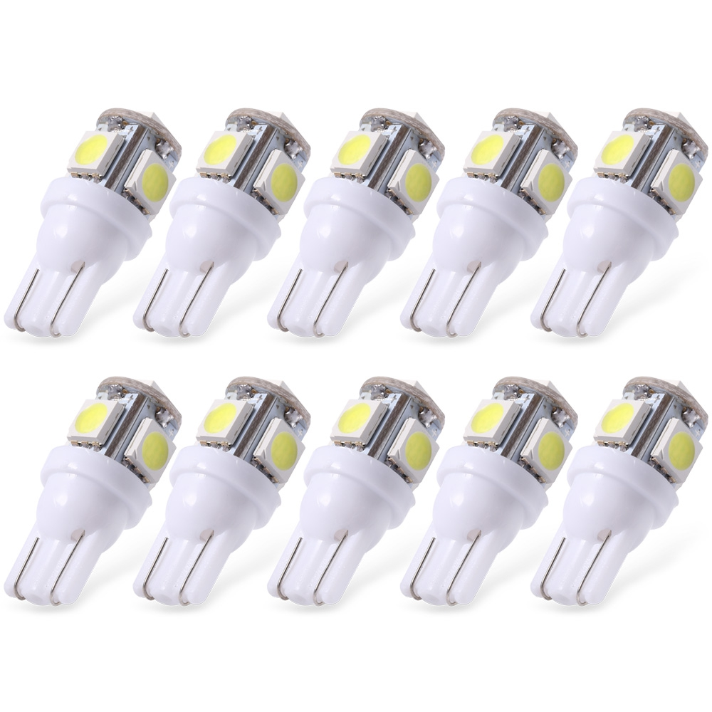Car Led 5 LED Clearance Side Marker Turn White Red Blue Green Yellow Pink T10 5 Smd