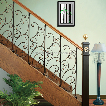 Stair Parts Hollow Baers Wrought Iron Railing Installation