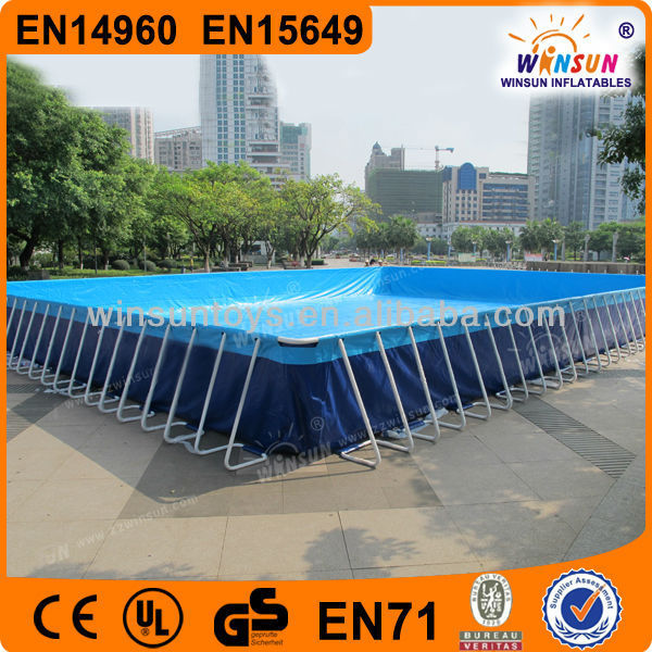 Ordinaire Prefabricated Folding Steel Frame Swimming Pool/outdoor Easily Assembled  Metal Swimming Pool