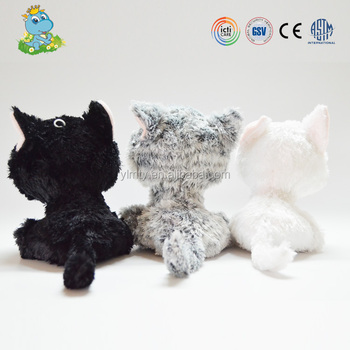 Kids birthday gift cute big eye custom cate plush toys wholesale