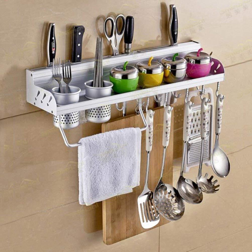 Kitchen Rack Wall Shelf With 2 Cups 40cm Storage
