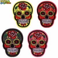 clothing patch cute skull embroidery DIY jeans hats patch