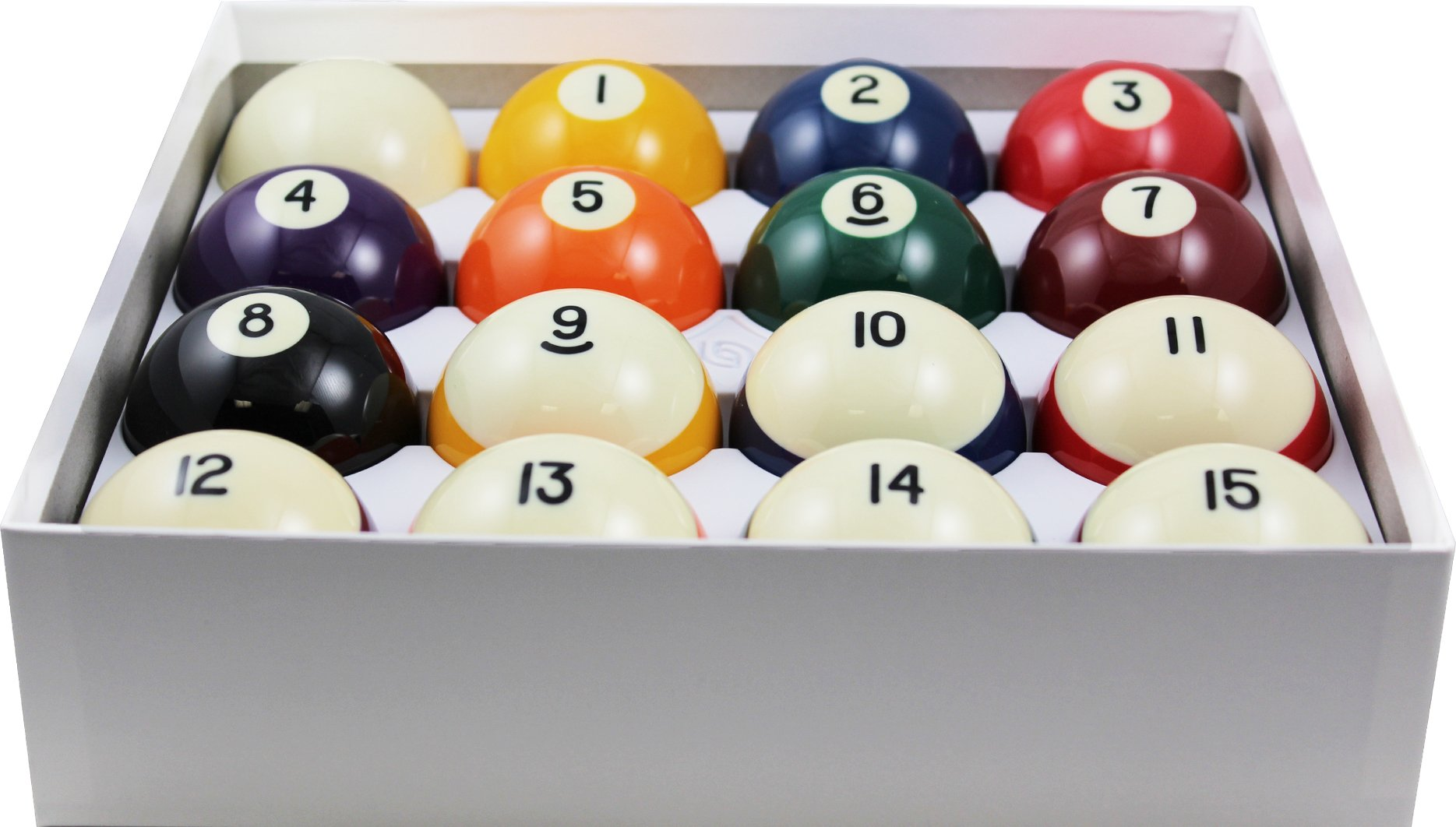 "Aramith 2-1/4"" Regulation Size Crown Standard Billiard/Pool Balls, Complete 16 Ball Set"