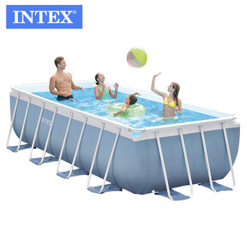 Intex 26778 16ft X 8ft X 42in Prism Frame Rectangular Swimming Pool Set -  Buy Rectangular Frame Pools,Intex Steel Frame Pool,Swim Pool Product on ...