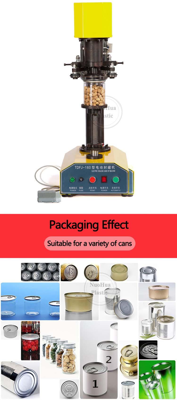 Tdfj-160 hohe qualität pet flasche abdichtung maschine/canning seamer/sealer für blechdose