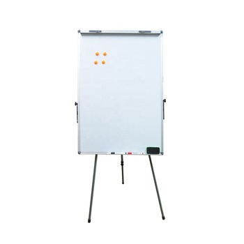 Office 90x120cm big size aluminium frame adjustable height mobile magnetic white board stand for school whiteboard with wheels
