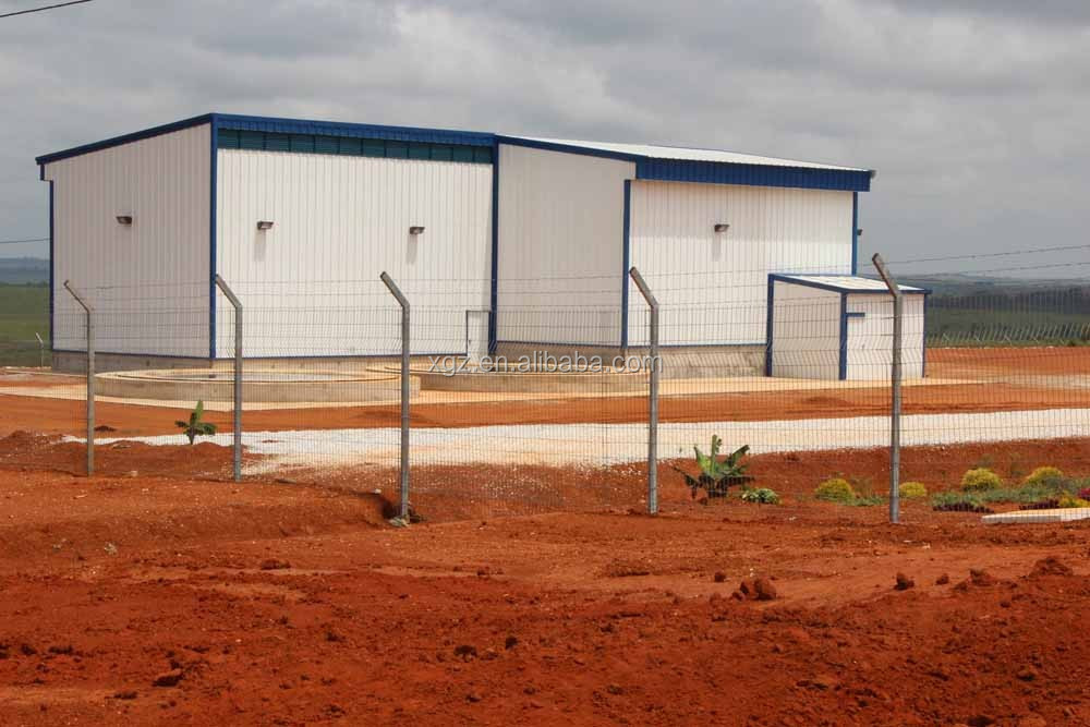 cheap light steel structure feed storage warehouse building