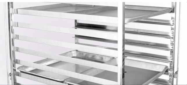 Commercial Stainless Mobile 6 Bay Caterers Bakers Rack