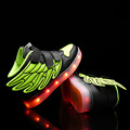 2016 New Kids Boy Girl Brand Sports Shoes With Led Light Wings Sneakers Children Heelys Glowing