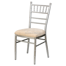 Wedding Furniture Rental Silver Aluminum Tiffany Chiavari Chairs with Fixed Seat