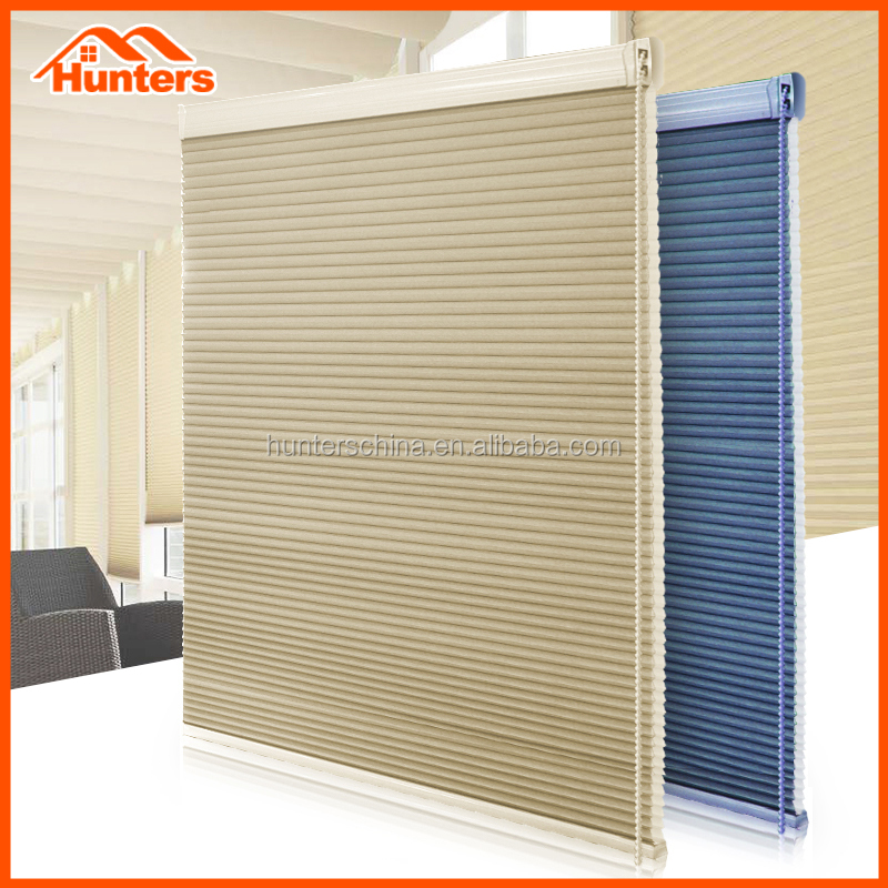 Manual & motorized anti static honey comb cellular blind for sale
