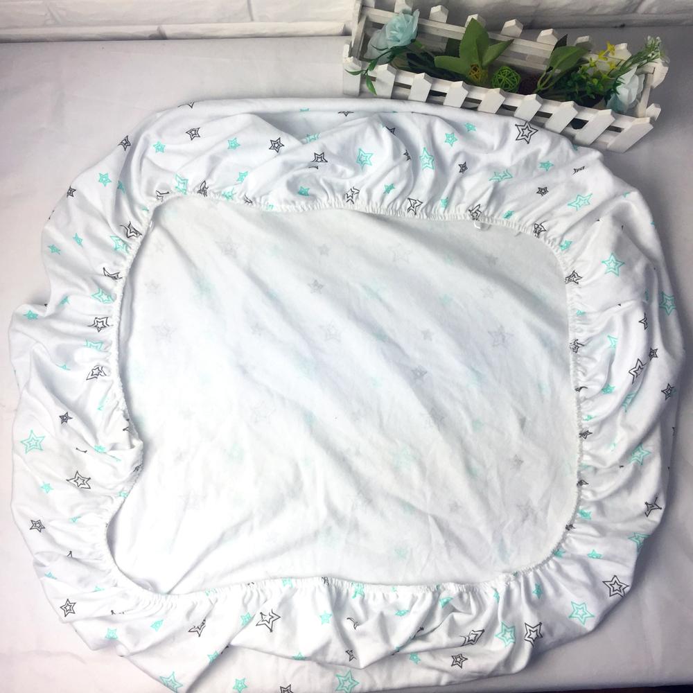 मुद्रित 100% कपास गूंथ बच्चे खाट शीट पालना गद्दे रक्षक खाट सज्जित चादर के लिए बच्चे को बिस्तर