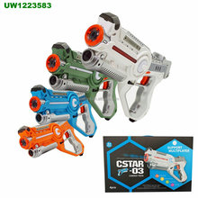 Set van 4 <span class=keywords><strong>Infrarood</strong></span> Laser Tag Guns, 4 Speler Indoor en Outdoor Team Game (Oranje, Groen, blauw, Wit)